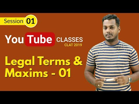 Legal Terms & Maxims for CLAT 2019 | Fools Den | Class 01