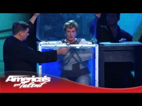 Alexanderia the Great - Escape Artist Goes Under Water in Chains - America's Got Talent 2013