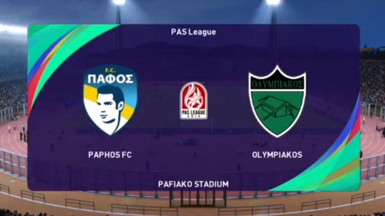 Paphos Vs Olympiakos Nicosia Pes 21 Cyta Cyprus Live Gameplay Youtube