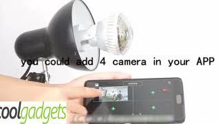 Wifi Light Bulb Security Camera with LED Lighting Surveillance Camera