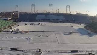 Outdoor Ice Rink Time Lapse: Hershey Bears 2018 Capital BlueCross Outdoor Classic