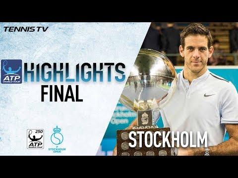 Final Highlights: Del Potro Beats Dimitrov At Stockholm 2017