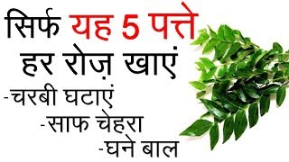 हर रोज़ करीपत्ता खाएं - वज़न घटाएं, साफ़ चेहरा और घने बाल पाएं | Health Benefits in Hindi