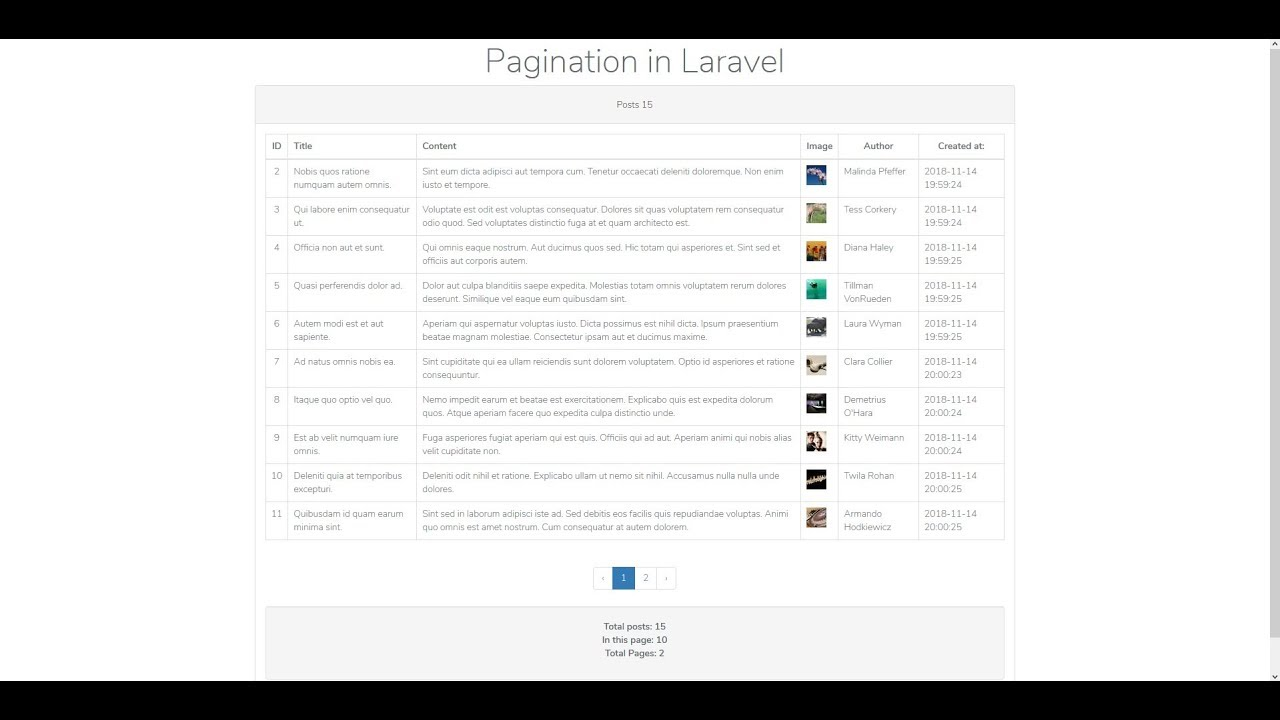 How to use pagination in Laravel 5 7 - Learn Laravel