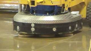 Polished concrete with Klindex floor machines, diamond tools, vacuums