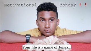 Your life is a game of jenga... | | Motivational Monday‼️