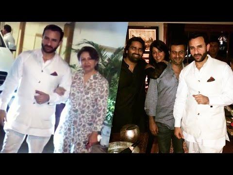 Saif Ali Khan's GRAND Birthday Bash 2016 | Soha Ali Khan | Karisma Kapoor
