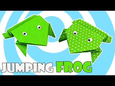 Origami Jumping Frog 🐸(Easy Tutorial for Kids)