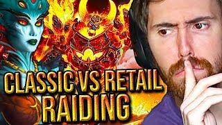 Asmongold Reacts To Classic VS Retail WoW Raiding - Platinum WoW