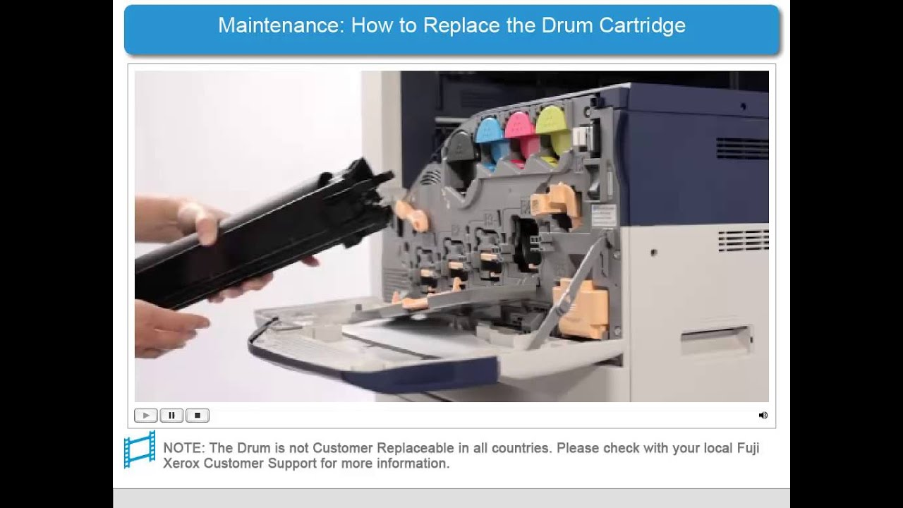 How to replace the drum cartridge apeosport v docucentre v products english youtube