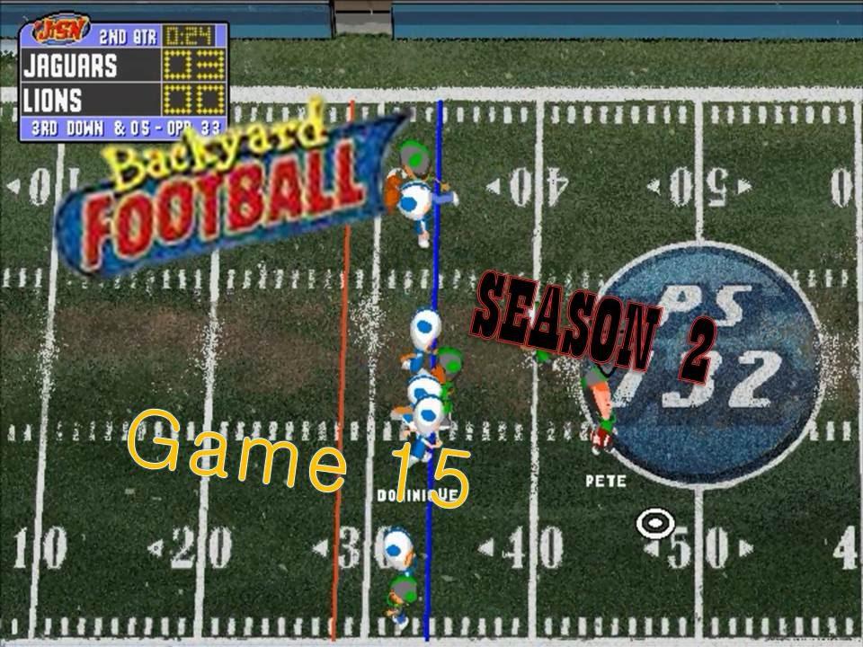 backyard football 1999 pc season 2 game 15 rival replay youtube