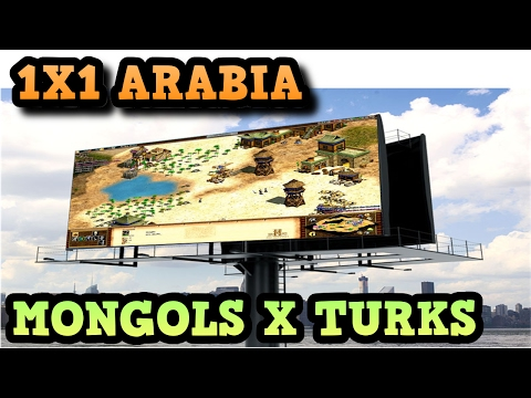 Age of Empires 2 HD 1x1 Arabia Mongols X Turks AoE2HD Gamepl