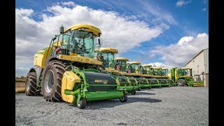 Massive haul of Krone foragers at McGee Farm Machinery (2018)