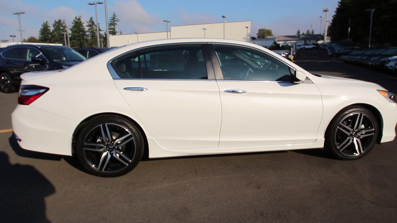 2016 Honda Accord Sport White Orchid Ga019704 Seattle On