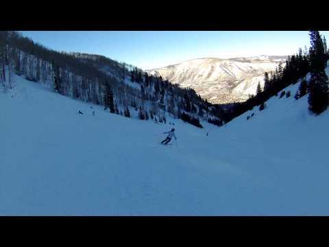 Skiing Aspen Mountain January 8 2015 clip 1