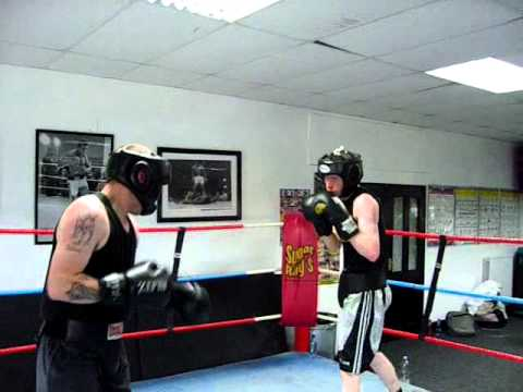 Craig Lawson and Liam Sparring