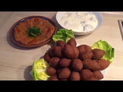 How To Make Lebanese Kibbeh طريقة عمل الكبة المقلية