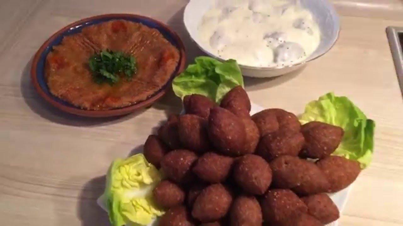 Rezept für Kibbeh - وصفة الكبة السورية - YouTube