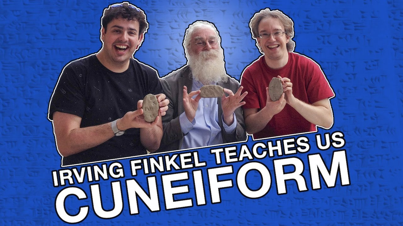 Youtube Thumbnail Image: Irving Finkel Teaches Us Cuneiform