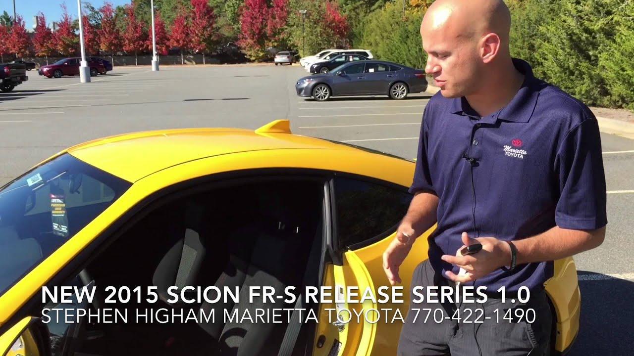 2015 scion fr s release series 1 0 yuzu at marietta toyota youtube
