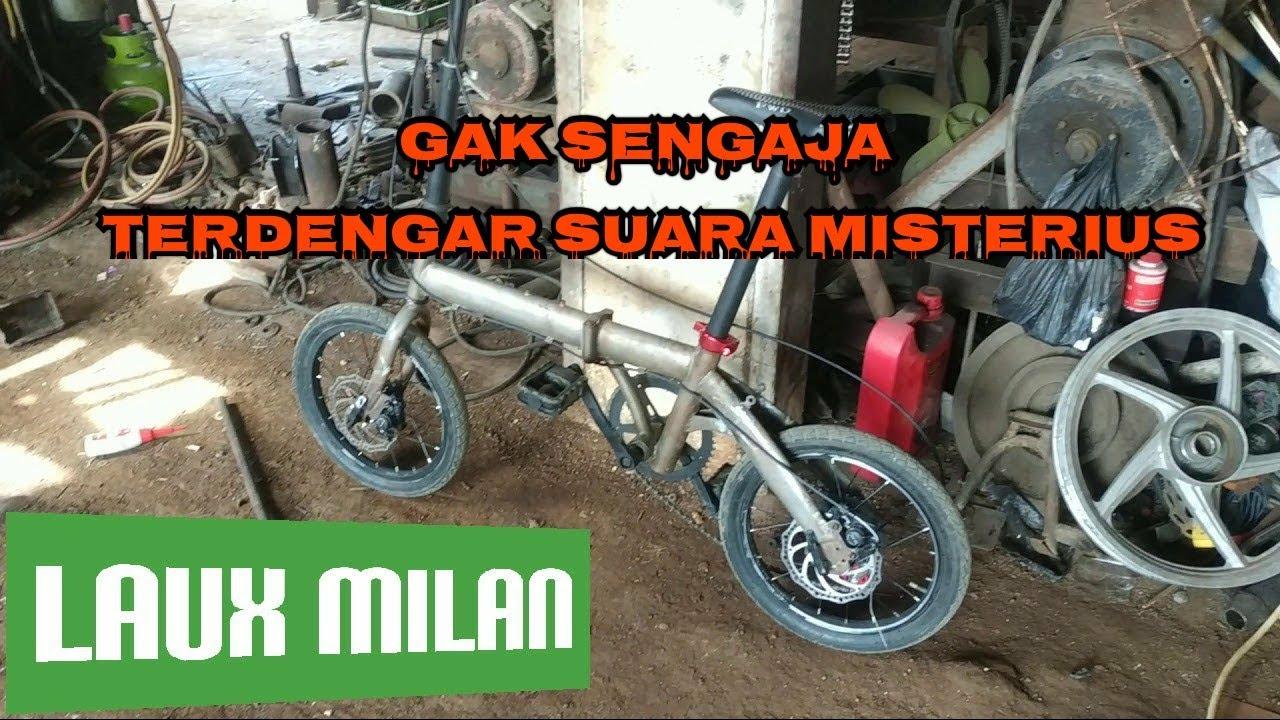 Sepeda Lipat Laux Milan 16 Upgrade Rem Dan Gigi 8 Speed Youtube