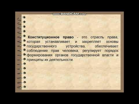 Конституционное право. Лекция 1. Понятие, предмет и метод конституционного права как отрасли.