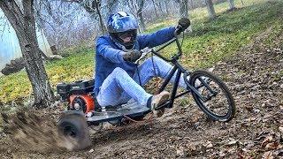 Homemade 200cc BMX Extreme TRIKE / Part 2     T E S T