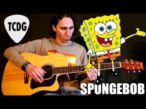 How To Play SpongeBob on Acoustic Guitar: Fast Tutorial TCDG