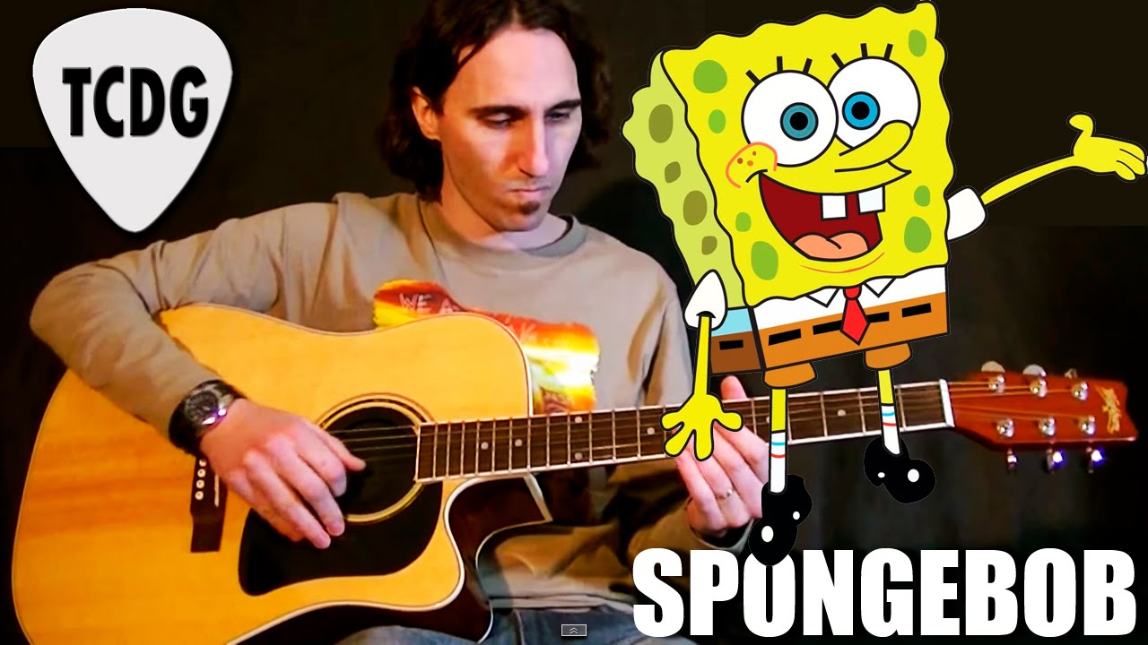 How To Play Spongebob On Acoustic Guitar Fast Tutorial Tcdg Youtube