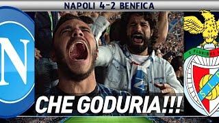 NAPOLI 4-2 BENFICA CHAMPIONS LEAGUE LIVE REACTION HD CURVA B!!!