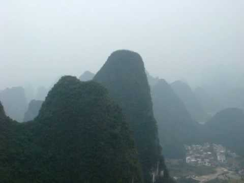 Hiking To The Top Of Moon Hill, Yangshuo, China