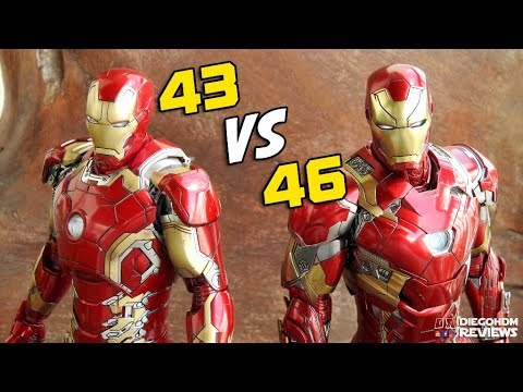 Hot Toys Iron Man Mark 43 VERSUS Mark 46 Comparativo / DiegoHDM