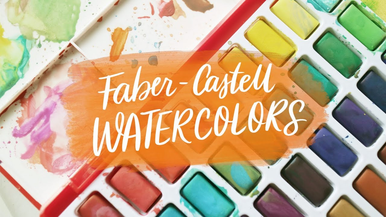 Faber Castell Solid Watercolor Set Review Youtube