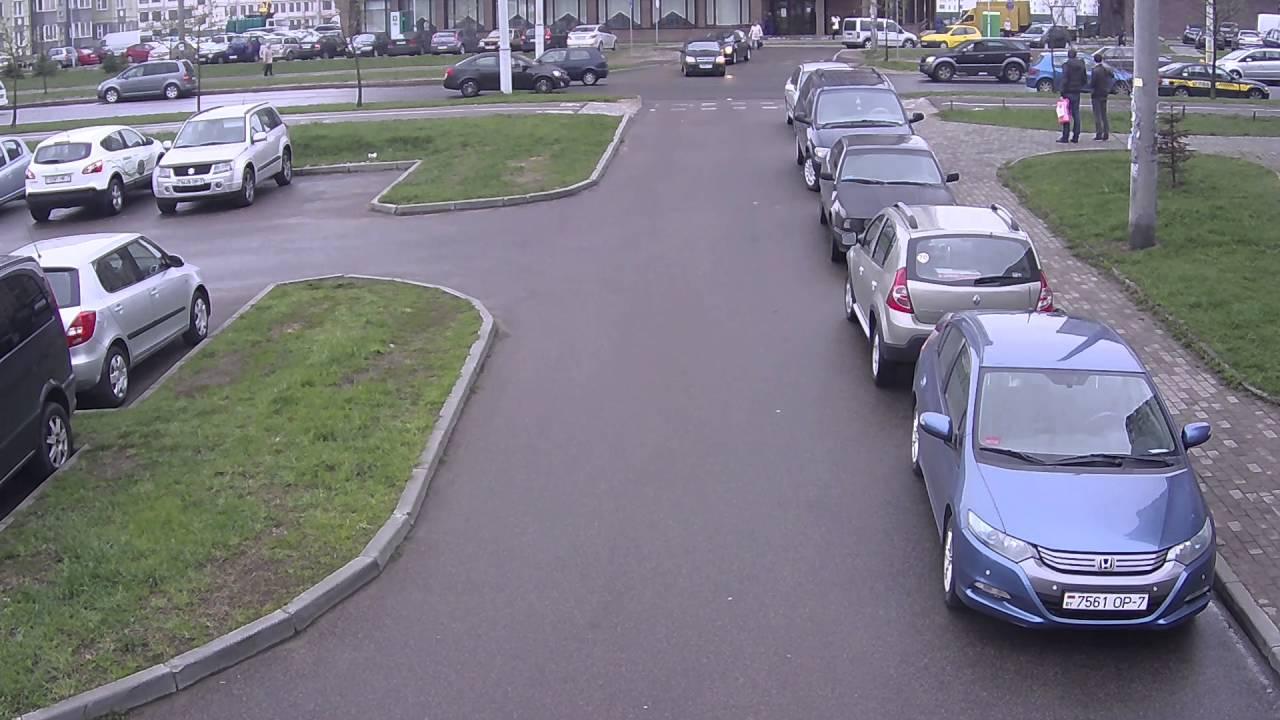 Авария 25.04.2016. Минск. Улица Матусевича