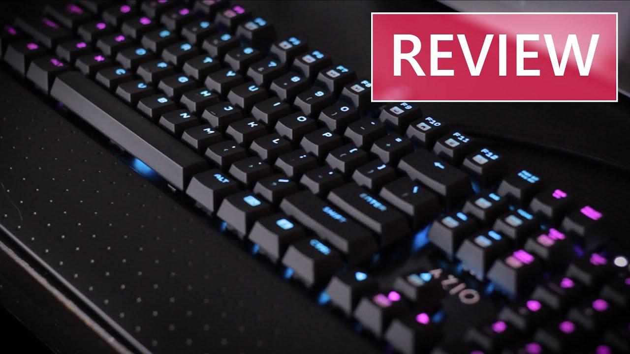 f0b56bc97d4 Azio MGK 1 RGB Mechanical Keyboard Review - YouTube