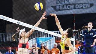 Klineman/Ross vs  Maria Antonelli/Carol • The Hague 4 Star 2018 • Beach Volleyball World