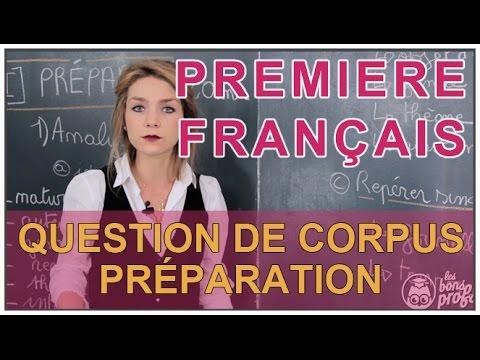 Question de Corpus : préparation - Français 1ère - Les Bons Profs
