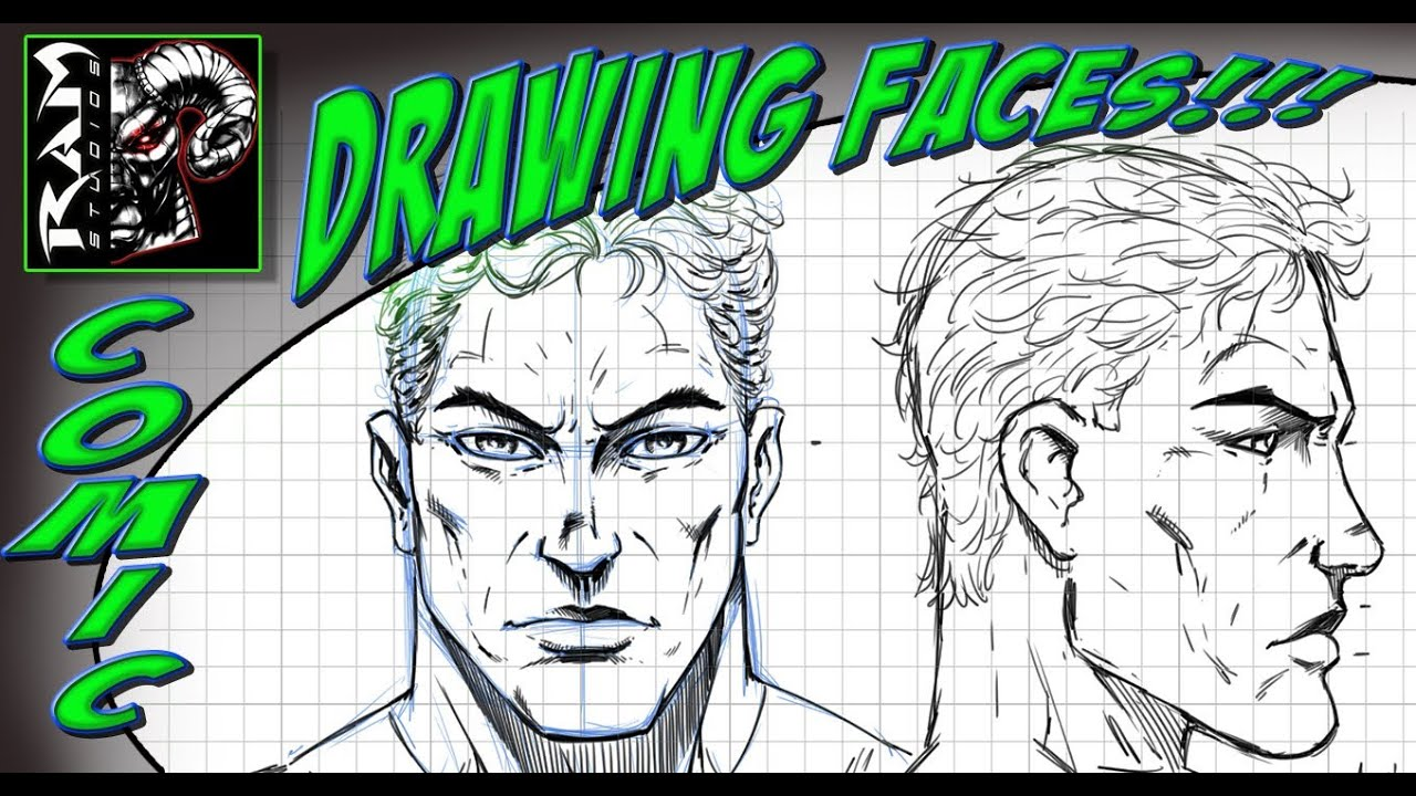 Drawing a Super Hero Face - Using a Grid - Video - YouTube