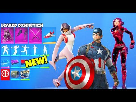 *NEW* Skins & Emotes LEAKED..! (Captain America Skin, The RENEGADE Emote) Fortnite Battle Royale