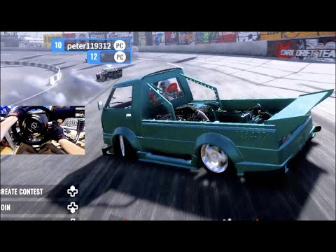 CarX Drift ONLINE PC MODS- MY WHEEL IS WORKING!! / TANDEMS W/1700hp BUS!!