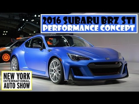 2016 Subaru Brz Sti Performance Concept Live At 2015 New