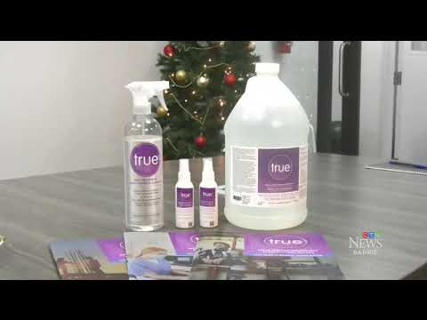 12/16/2020 - Biosenta live on CTV News Barrie with true™ disinfectant targeting COVID-19