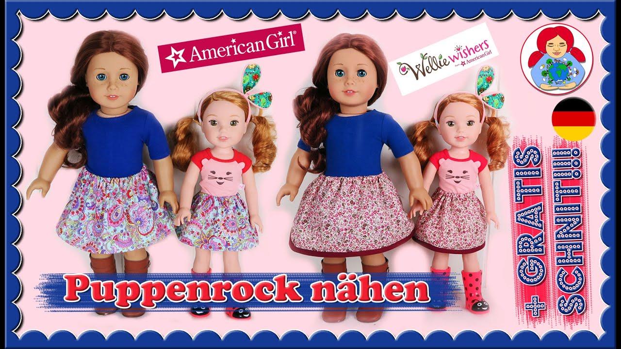 DIY | Puppenrock für American Girl und Wellie Wisher Puppen nähen + ...