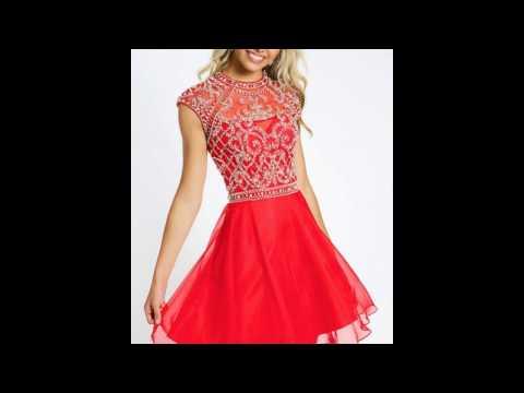Красные платья 2017 - модный тренд для ярких принцесс!