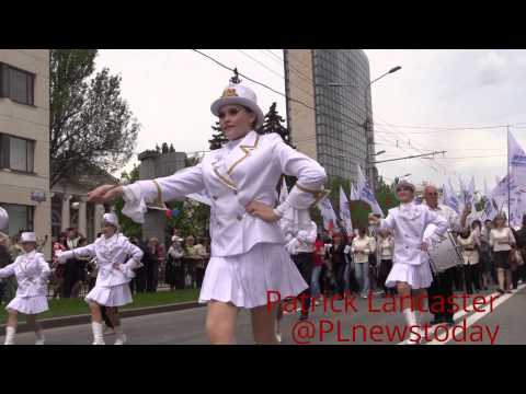 Donetsk Peoples Republic one year Independence day parade