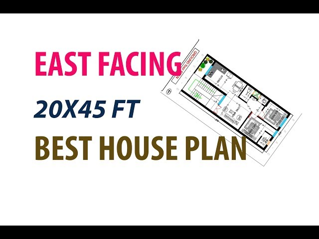 EAST FACING 20X45 FT 2BHK BEST HOUSE PLAN