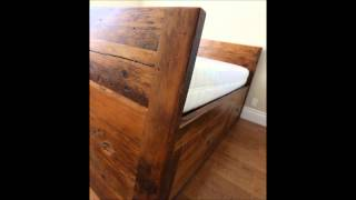 Custom Reclaimed Wood Beds