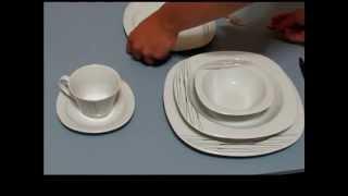 Kütahya Porselen Lapis tek çiçek 36 parça yemek seti kutu içeriği ve ürün videosu