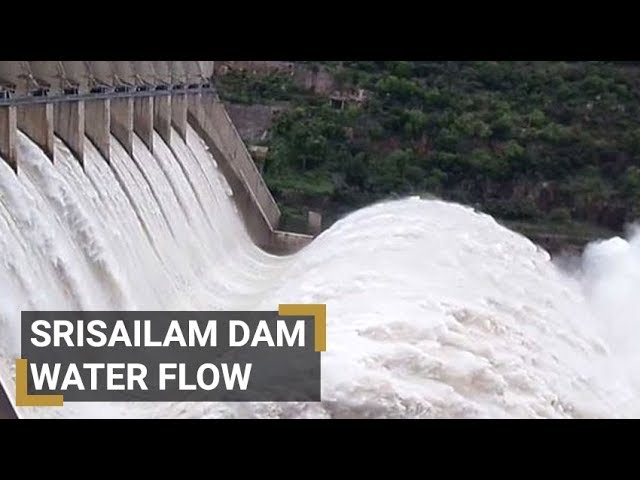Sreesailam Dam Gates Opened