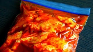 Marinade Your Meats Easy And Efficient - Use A Ziplock Bag